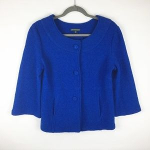 Harve Benard Wool Royal Blue Swing Jacket S